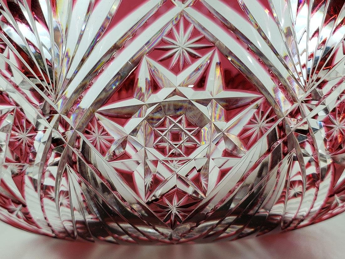 A Fine Antique Cut To Clear Cut Glass Cranberry Bowl - 6