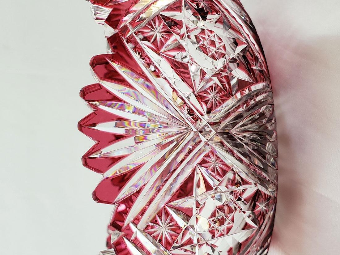 A Fine Antique Cut To Clear Cut Glass Cranberry Bowl - 8
