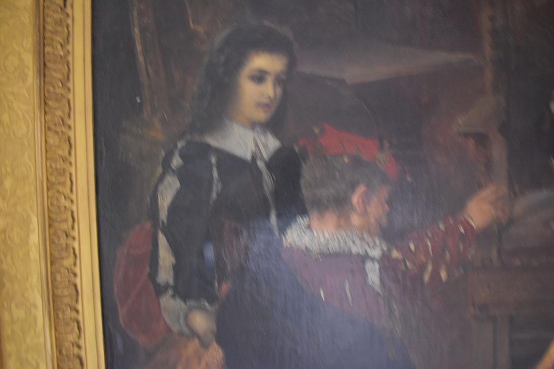 Anton Ramako  Austrian Painting Columbus & Isabella - 10