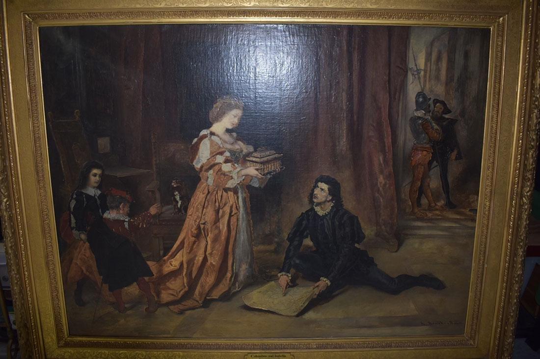 Anton Ramako  Austrian Painting Columbus & Isabella