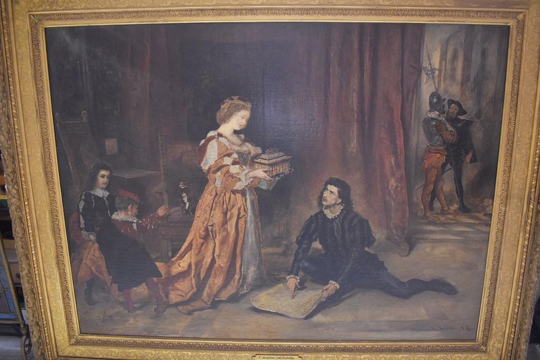 Anton Ramako  Austrian Painting Columbus & Isabella - 2