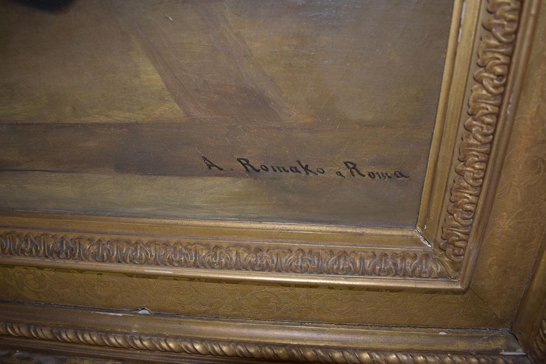 Anton Ramako  Austrian Painting Columbus & Isabella - 3