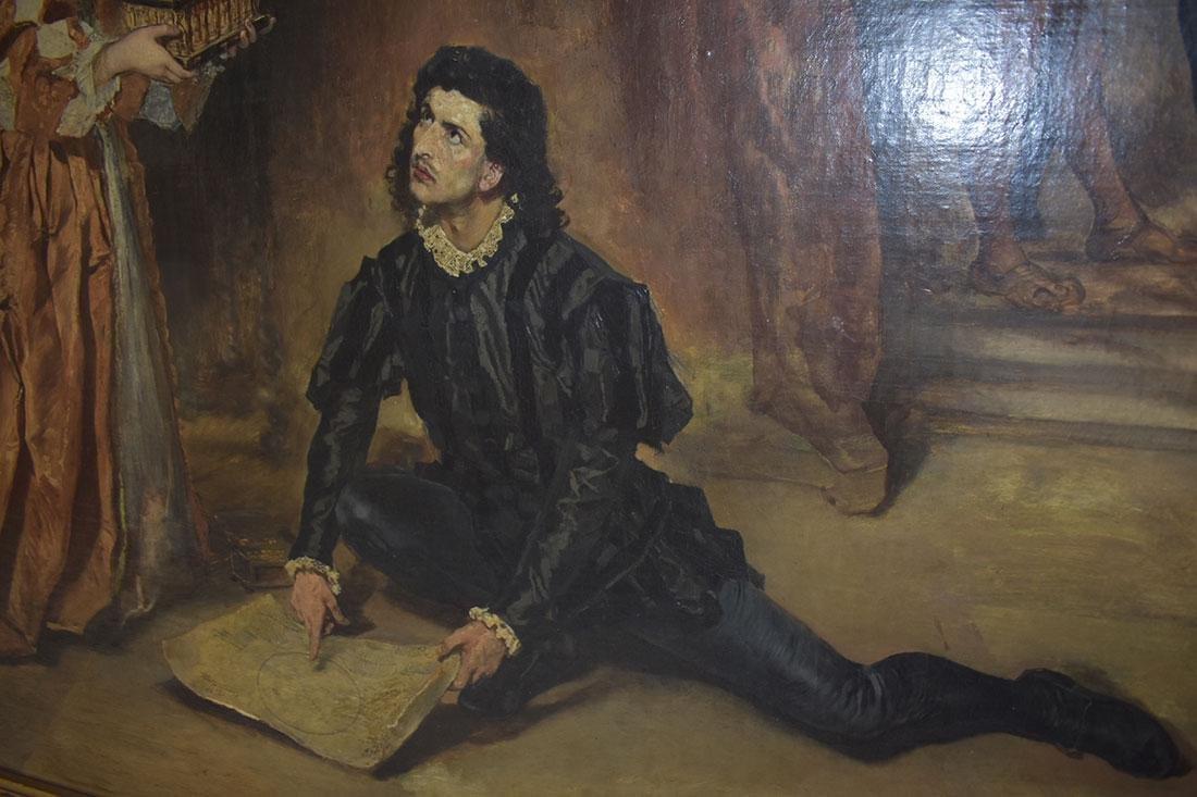 Anton Ramako  Austrian Painting Columbus & Isabella - 4
