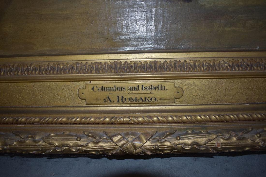 Anton Ramako  Austrian Painting Columbus & Isabella - 6