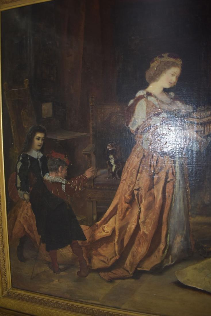 Anton Ramako  Austrian Painting Columbus & Isabella - 7