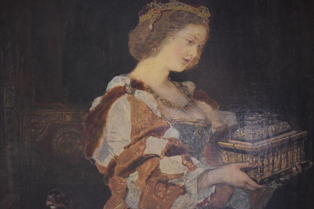 Anton Ramako  Austrian Painting Columbus & Isabella - 8
