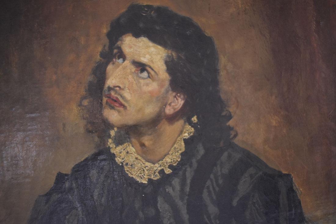Anton Ramako  Austrian Painting Columbus & Isabella - 9