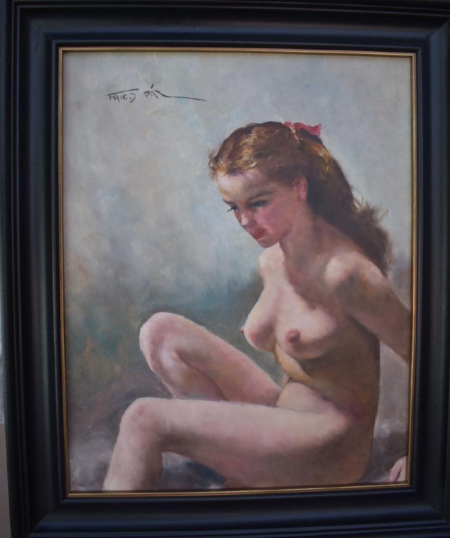 "Signed Nude Pal Fried Painting 1893-1976 ""NINA"""