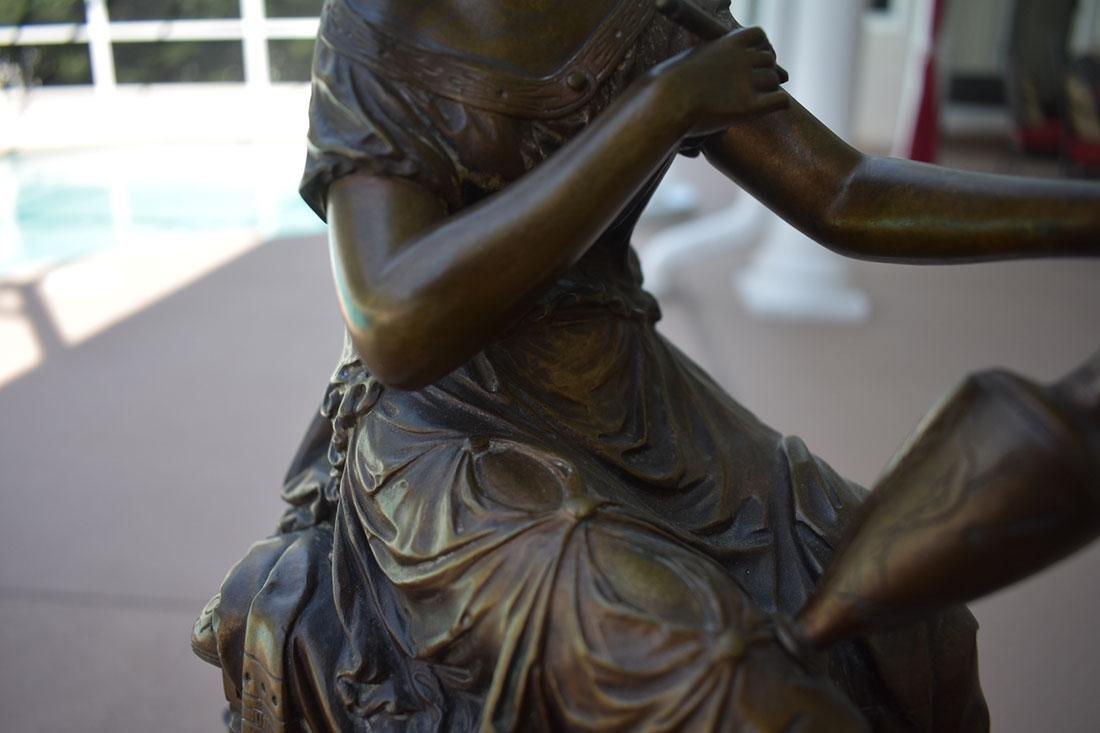 Antique Bronze Doriot Bronze Of A Seated Woman 19c - 3