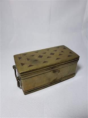 Antique Bronze Casket Box 1819C