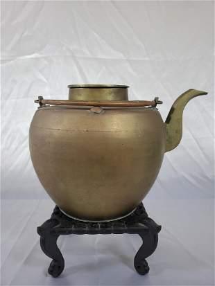 Antique Chinese Bronze Teapot 1920 c