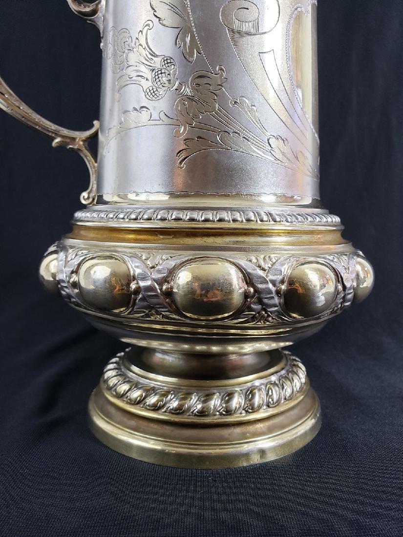 Fine Victorian Antique Sterling Silver Beer Stein MARK. - 4