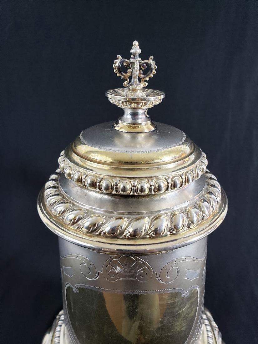 Fine Victorian Antique Sterling Silver Beer Stein MARK. - 6
