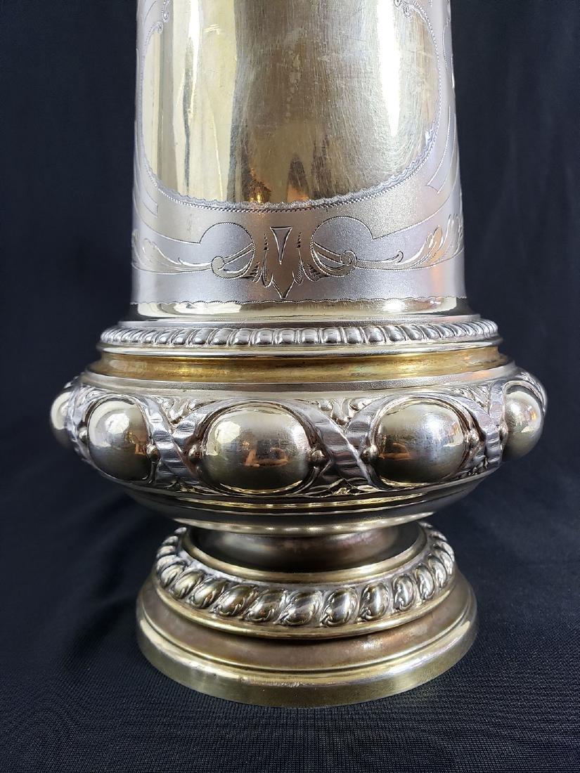 Fine Victorian Antique Sterling Silver Beer Stein MARK. - 8