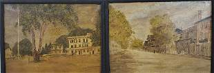 Pair Andover Mass Oil Landscape Paintings