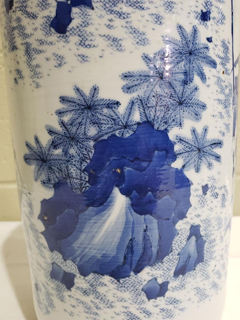A Fine Chinese Transitional  Blue And White Vase 19th c - 10