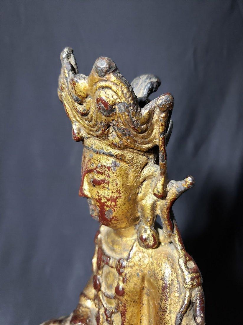 Antique Chinese Gilt Bronze Buddha 17-18th Century - 7