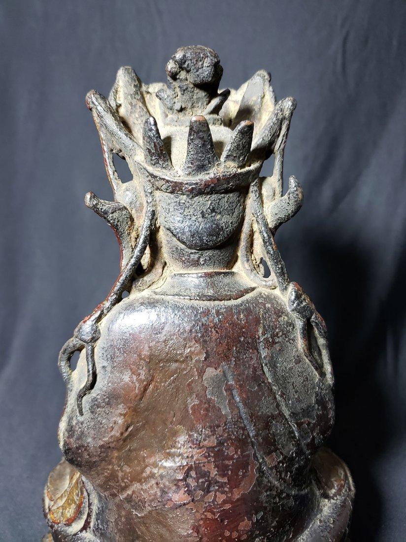 Antique Chinese Gilt Bronze Buddha 17-18th Century - 9