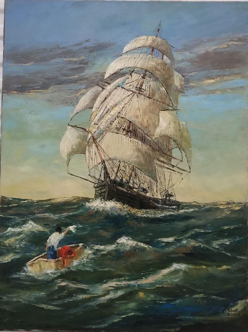 Signed Robert Lebron Seascape Painting