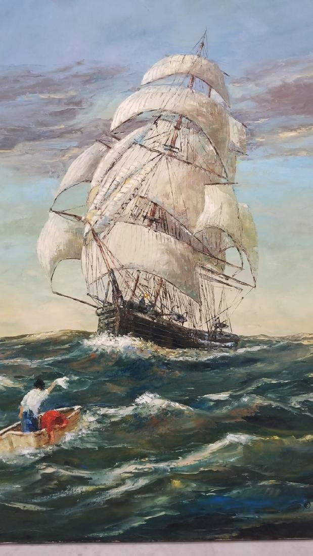 Signed Robert Lebron Seascape Painting - 2