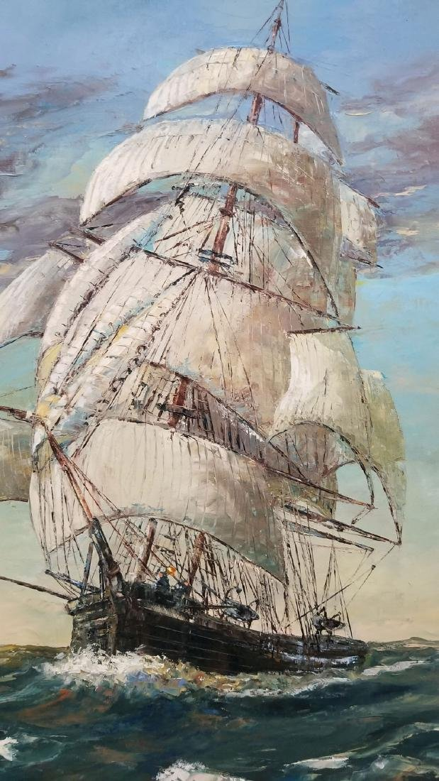 Signed Robert Lebron Seascape Painting - 4