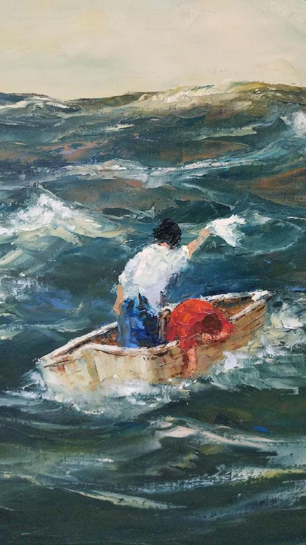 Signed Robert Lebron Seascape Painting - 5