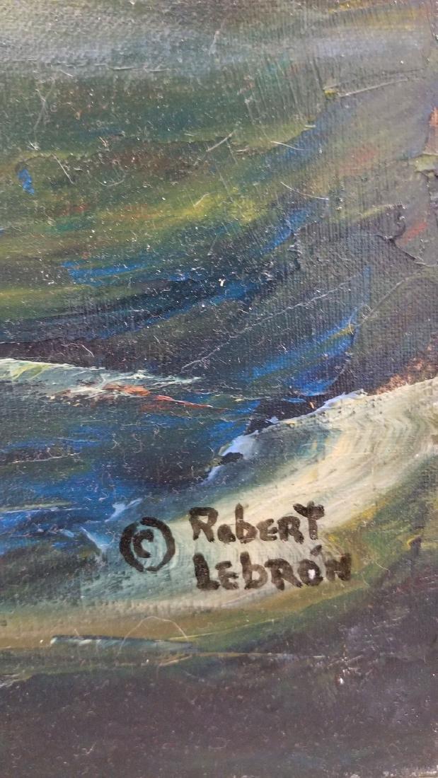 Signed Robert Lebron Seascape Painting - 6
