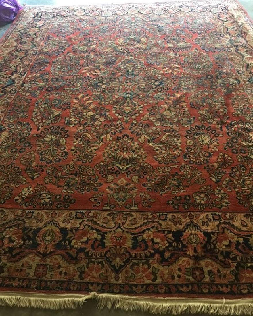 Antique Sarouk Fine Rug Persian Wool 1920's - 2