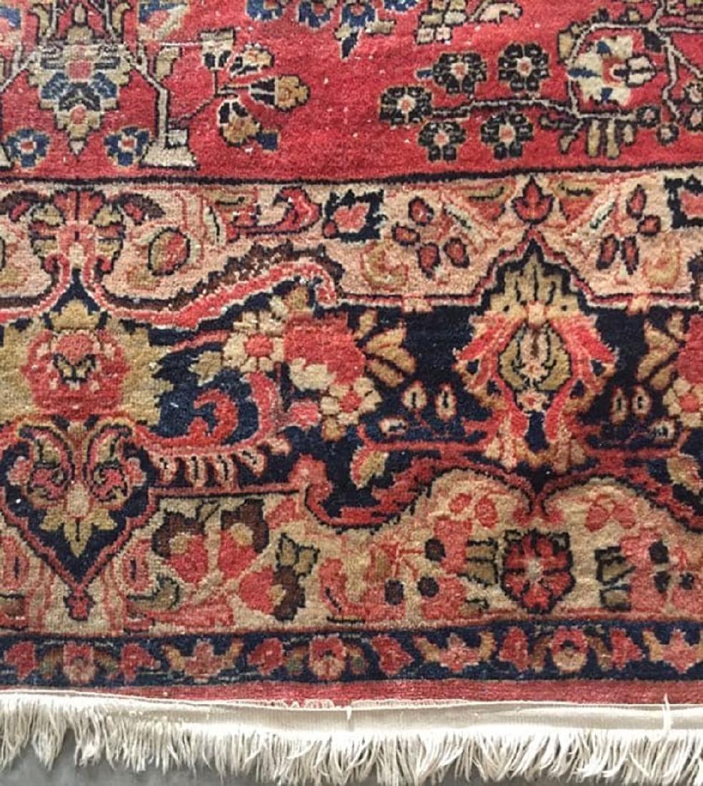 Antique Sarouk Fine Rug Persian Wool 1920's - 3