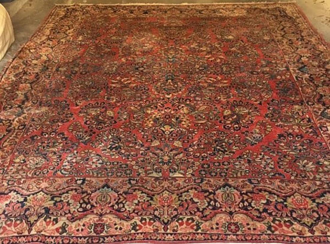 Antique Sarouk Fine Rug Persian Wool 1920's - 4