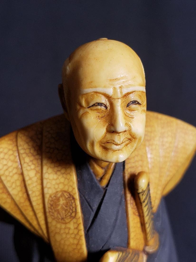 Antique Fine Japanese Man Signed - 10