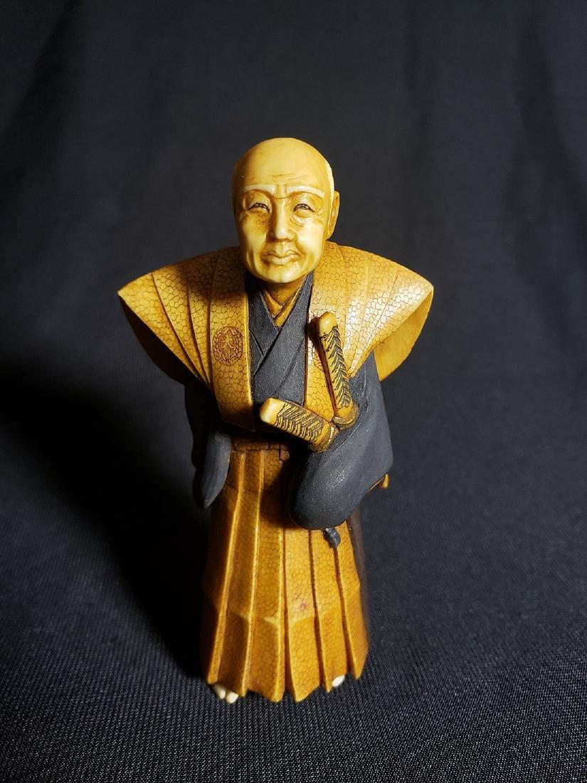 Antique Fine Japanese Man Signed