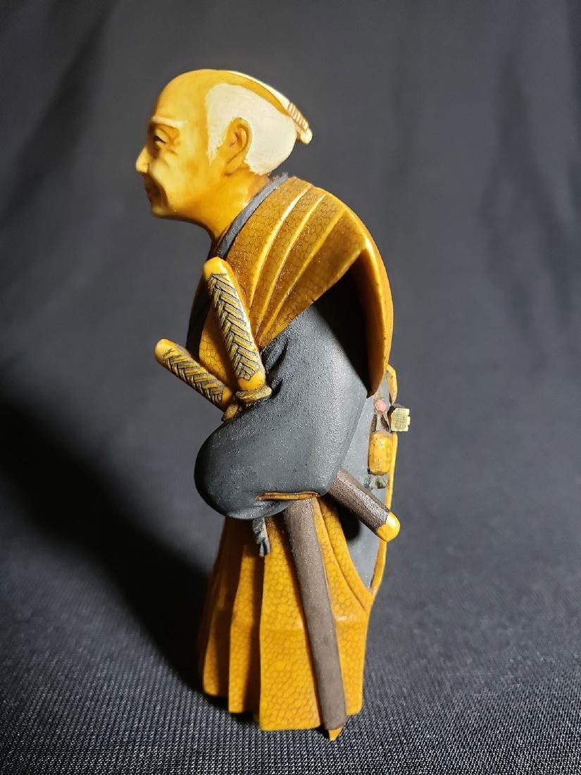 Antique Fine Japanese Man Signed - 3