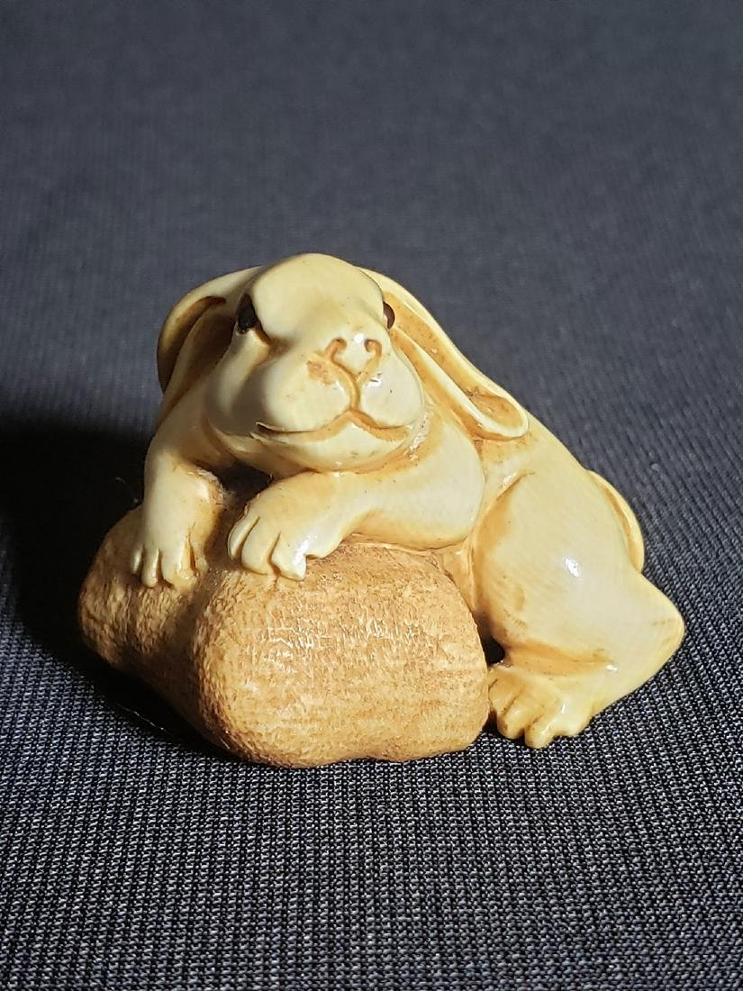 A Very Fine Japanese  Rabbit Signed 19th c - 2