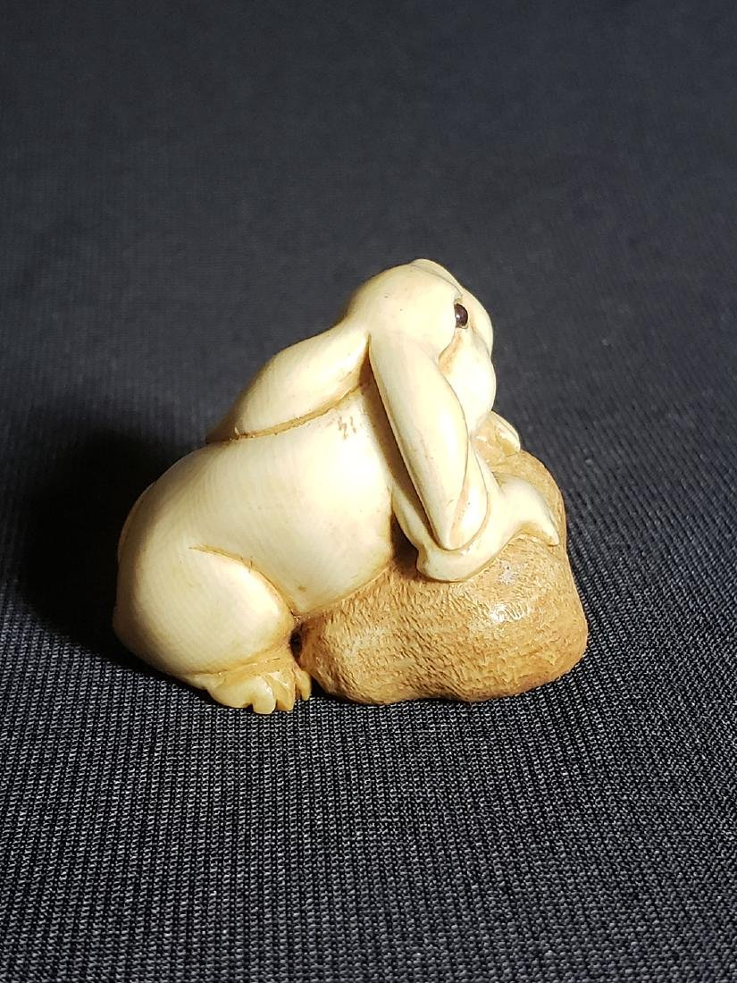 A Very Fine Japanese  Rabbit Signed 19th c - 4