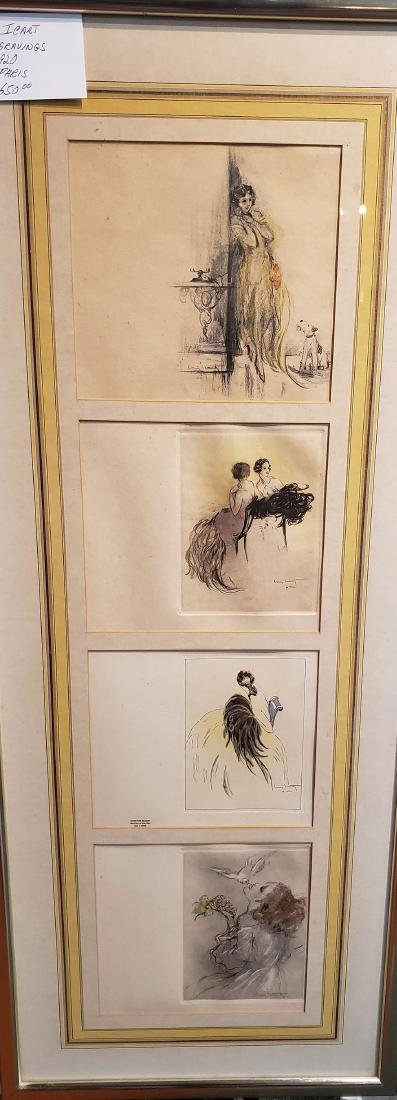 1920's Louis Icart Art Deco Etching Grouping