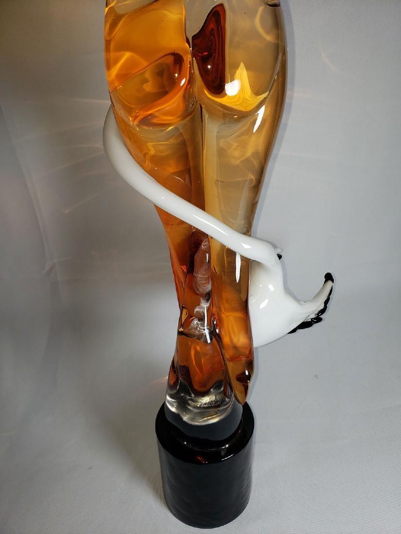 Superb Signed Art Glass  Murano Sculpture Leda & Swan - 11
