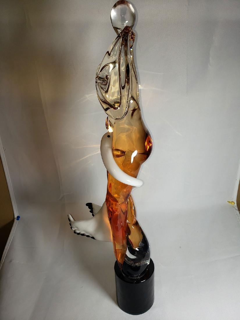 Superb Signed Art Glass  Murano Sculpture Leda & Swan - 7