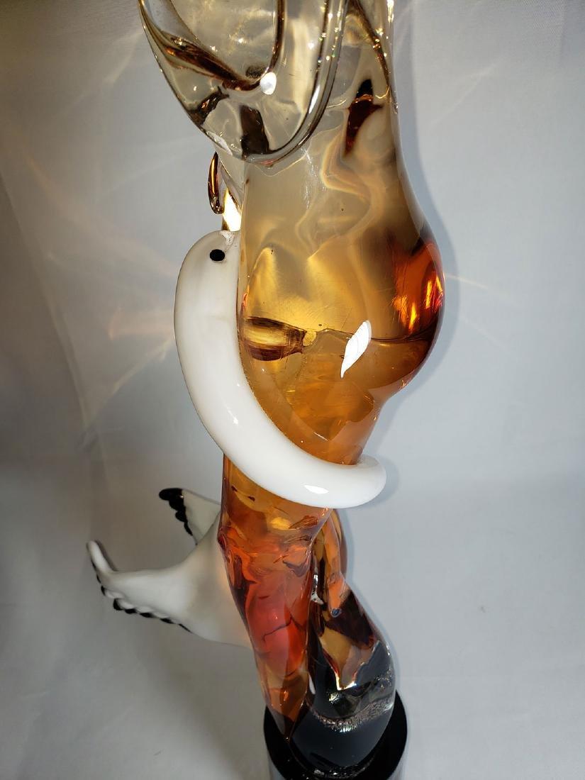 Superb Signed Art Glass  Murano Sculpture Leda & Swan - 9