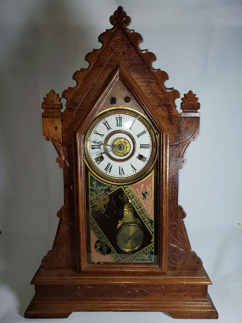 Antique New Haven Clock Co Mantel Clock