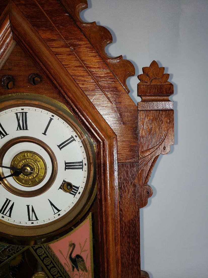 Antique New Haven Clock Co Mantel Clock - 4