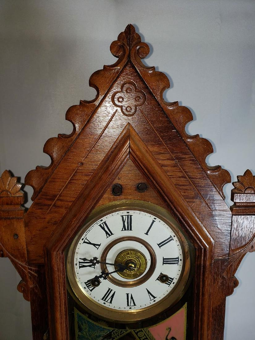 Antique New Haven Clock Co Mantel Clock - 5