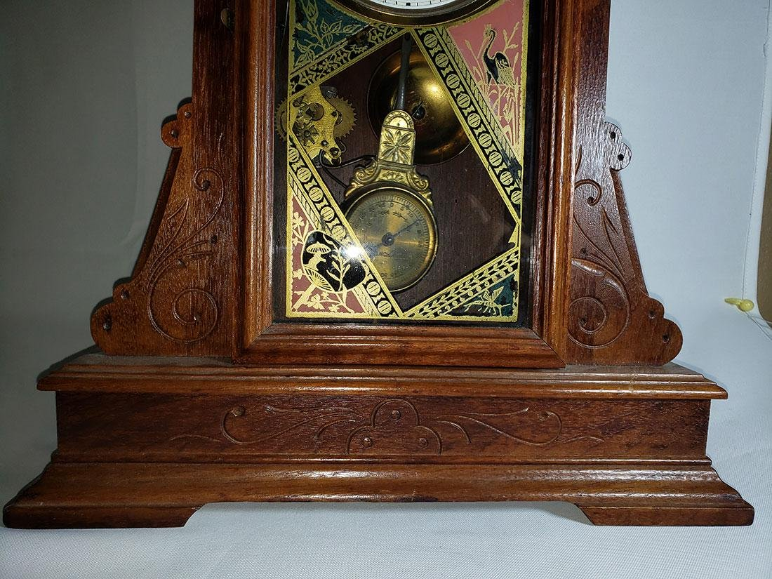 Antique New Haven Clock Co Mantel Clock - 6
