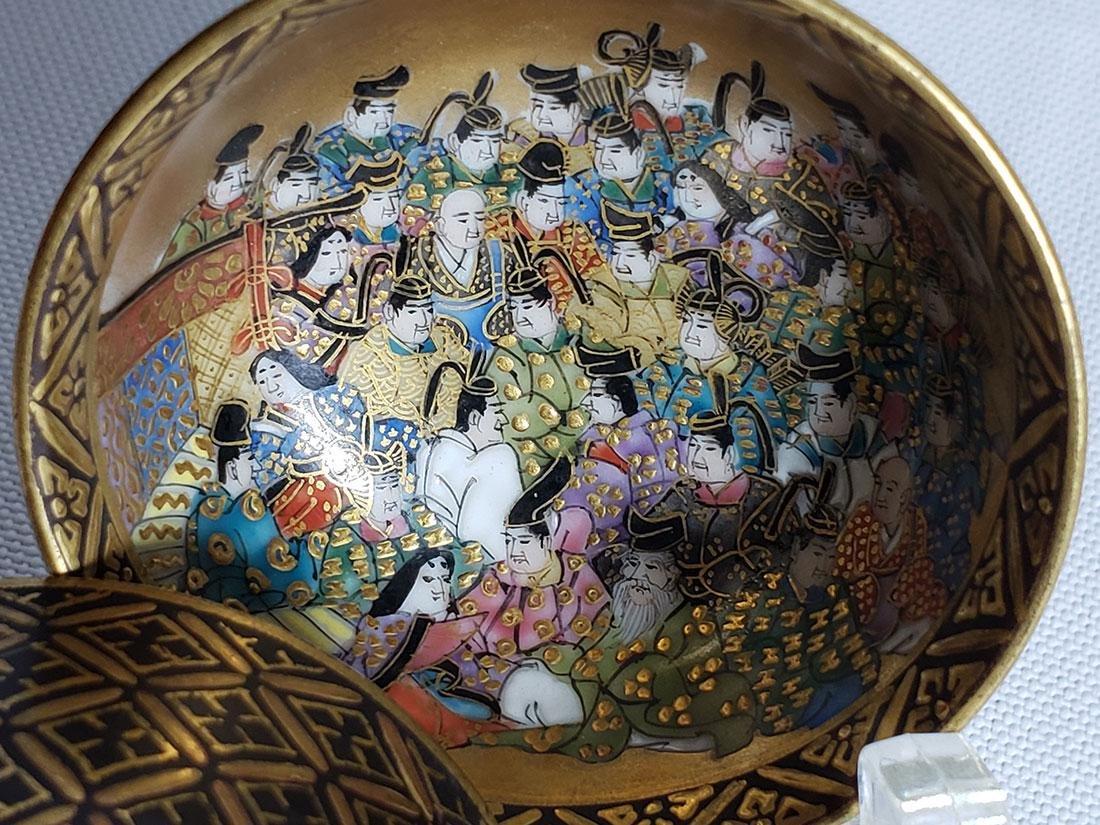 Pair Of Fine Miniature Japanese Satsuma Bowl Signed 19c - 10