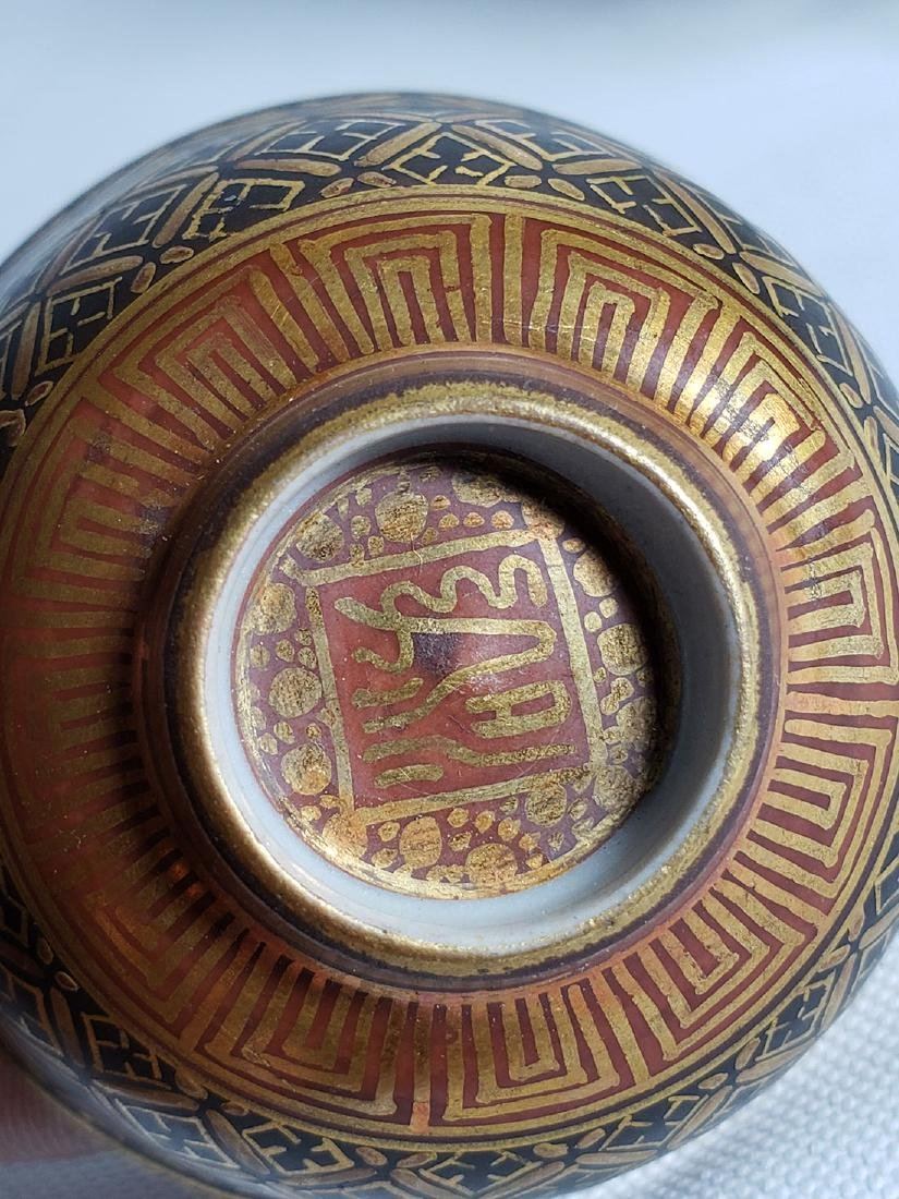 Pair Of Fine Miniature Japanese Satsuma Bowl Signed 19c - 4