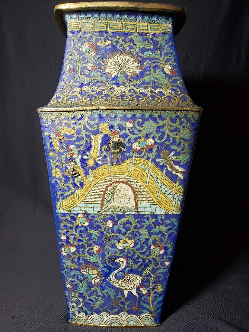 A Very Fine Chinese Enamel Cloisonne Vase Ming Period