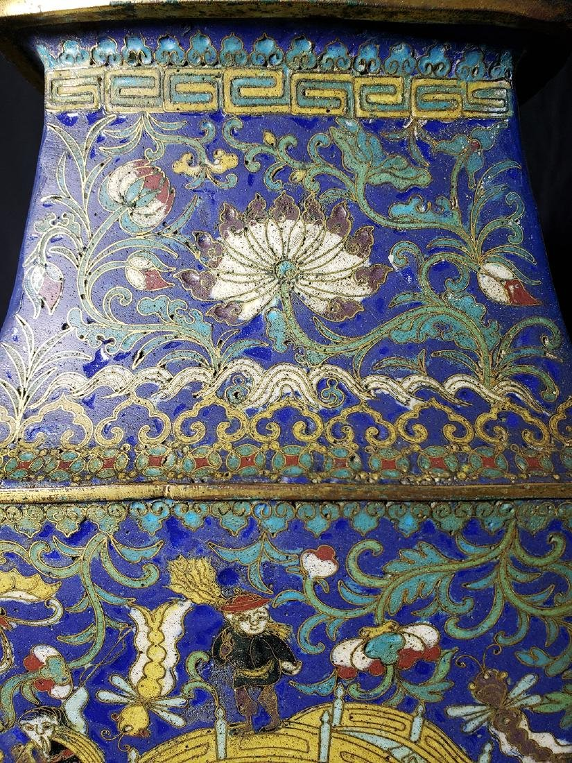 A Very Fine Chinese Enamel Cloisonne Vase Ming Period - 3