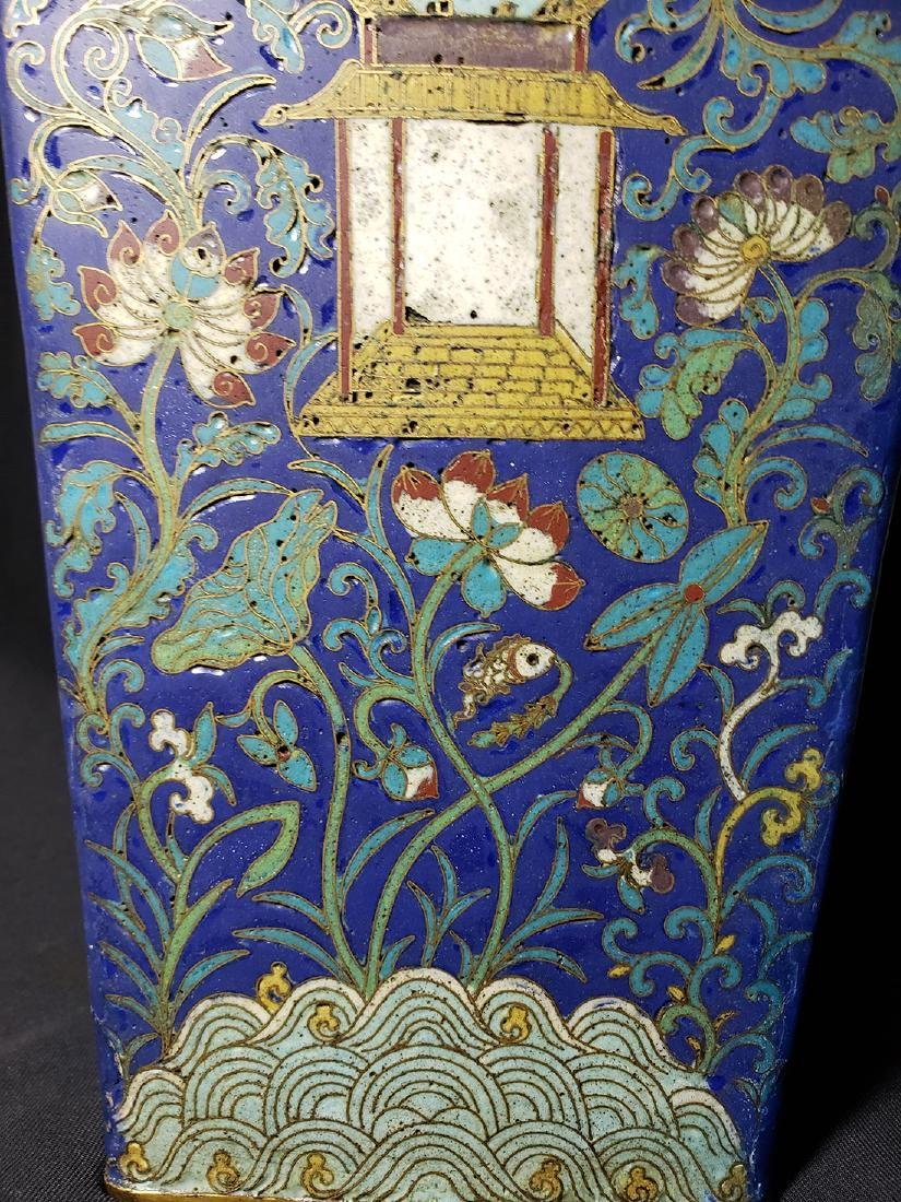A Very Fine Chinese Enamel Cloisonne Vase Ming Period - 5