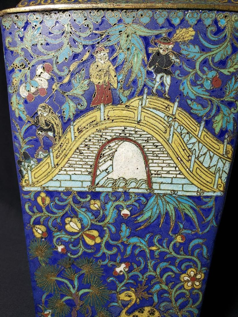 A Very Fine Chinese Enamel Cloisonne Vase Ming Period - 6