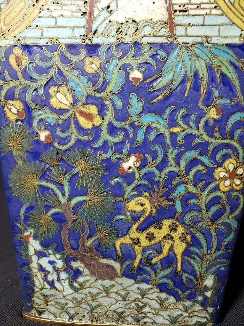 A Very Fine Chinese Enamel Cloisonne Vase Ming Period - 7